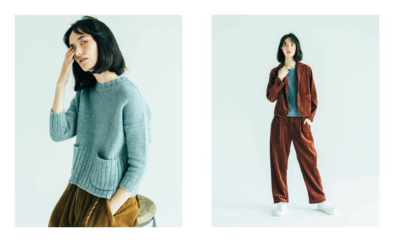 [L] KNIT GN731541-606 / 21,000 YEN + TAX  - Delivered in September -  PANTS GP732001-302 / 23,000 YEN + TAX  - Delivered in October -  (All Product is GRANDMA MAMA DAUGHTER)   [R] JACKET GJ731531-403 / 32,000 YEN + TAX  - Delivered in August -  PANTS GP731931-403 / 25,000 YEN + TAX  - Delivered in August -  CUT&SEWN GC730801-501 / 5,000 YEN + TAX  - Delivered in August -  (All Product is GRANDMA MAMA DAUGHTER)   SHOES MNSSO1721-101 / 9,000 YEN + TAX GRANDMA MAMA DAUGHTER × MOONSTAR
